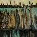 cattails-36X36-2011-acrylic on canvas-sold